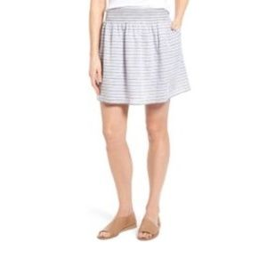 Nordstrom Caslon Nautical Striped Skirt Size XL